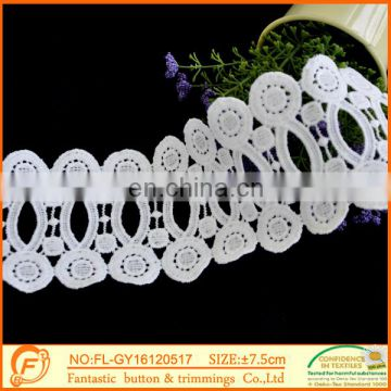 Flower Trimming laces And fabric lace White New Wholesale Lace Sample