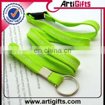 Cheap custom polyester lanyard breakaway clip