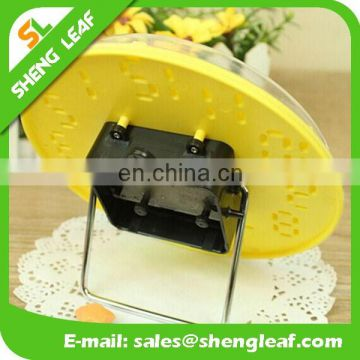 Wholesale personality candy color stereoscopic round table clock