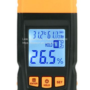 LM161 Handheld Digital Wood Moisture Meter with integrated probe