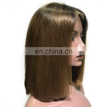New arrival brown color virgin brazilian handmade wig