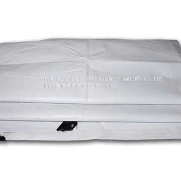 White Waterproof Tarp Double Sides Tarpaulin Repair Sites