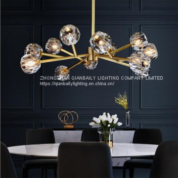 K9 Crystal Chandelier LED crystal Pendant Lamp Used home dinning room, living room