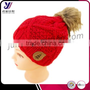 d2647fb6 Customized winter wool felt acrylic knit hats with fur pom pom factory  professional manufacturer sales(can be customized) of Hat from China  Suppliers - ...