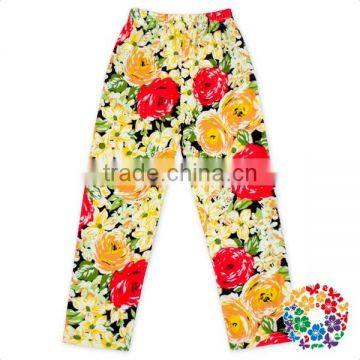 2017 New Arrival Flower Floral Printing Baby Pants Soft Baby Girls Leggings