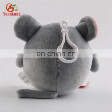 Hot Sale Plush Mouse Keychain Small Round Stuffed Animal Toy for Hanging Decoration