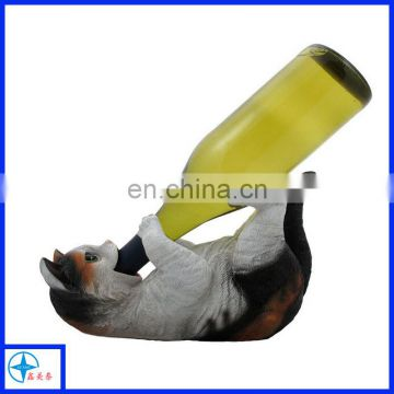 Top popular resin cute horse wine holder for decoration