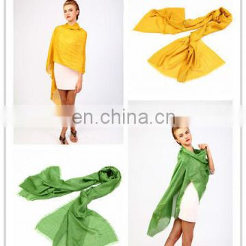 2013 bright solid color viscose fashionable custom infinity shawl