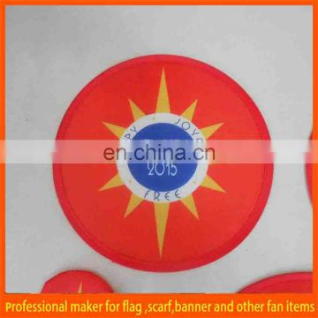 cheap heat sublimation folding fabric frisbee