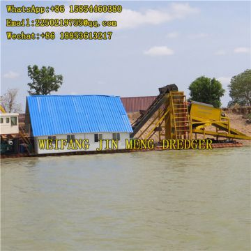 River Dredging Machine Heavy Duty Bucket Chain Gold Dredger Lake Mining