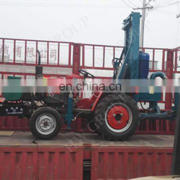 Diesel tractor-mounted water well drilling rig electric trailer/tractoion type drilling rig