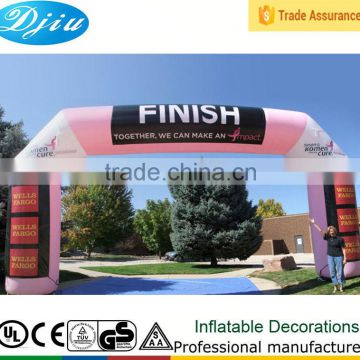 Inflatable race goal Arch marathon goal Archway blow up goal Archdoor sports event Finish