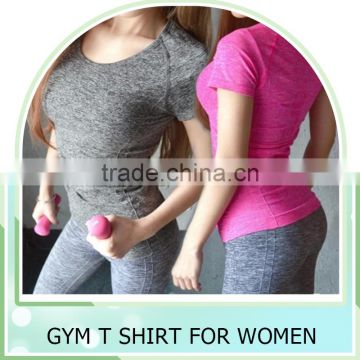 Custom Gym T shirt Compression Tights Women's Sport T-shirts Dry Quick Running Short Sleeve T-shirts Fitness Women Clothes Tees