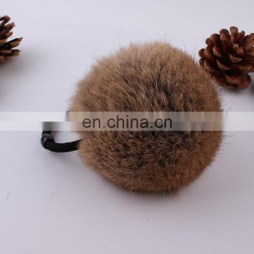 Fashion top quality real rabbit fur bobble elastic for women decoration