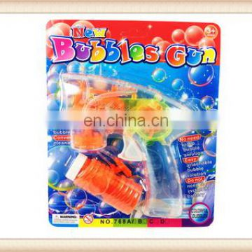fish bubble toy LED light and musical transparent bubble gun toy