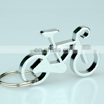 Promotion metal opener bicycle keychain