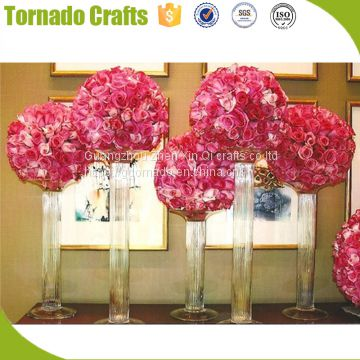 ZXQ free sample new 30cm dia. wedding artificial flower wedding table flower ball centerpiece decorative
