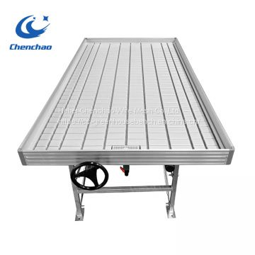 High quality 4*8ft ebb and flow rolling benches in greenhouse plants