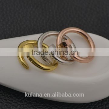 Fantasy design twisted nail rings discount rose gold rings