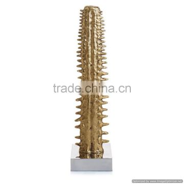 gold plated cactus tree centerpiece sculpture