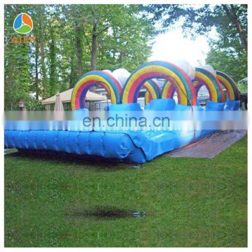 rainbow giant high quality inflatable obstacle with price