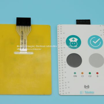 PET/PC Membrane Switch Panel Graphic Overlays With LED Light Switches