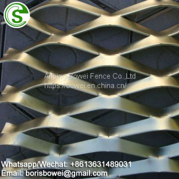 Decorative raised expanded metal for architectural