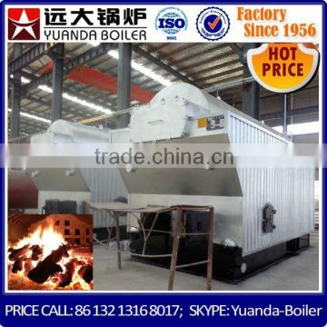 Capacity 4T/hr @ 10kg/cm2 pressure industrial wood steam boiler