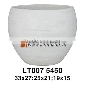 Southern Vietnam Exporter Modern Outdoor Round Grey Fice Mikan Pottery