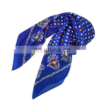 2017 Cheap Fashionable Best Quality Lady Polyester Pongee Printed Hijab Head Scarf