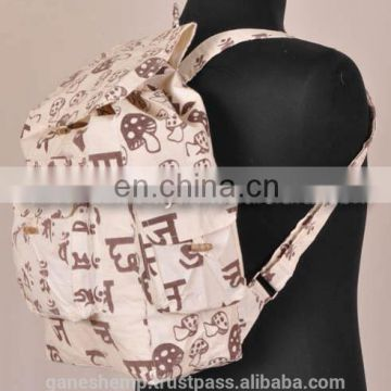 Printed Hemp Backpack BPK 0006