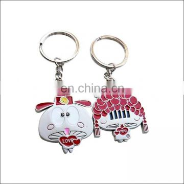 Custom couple charactor metal keycahins wholesale