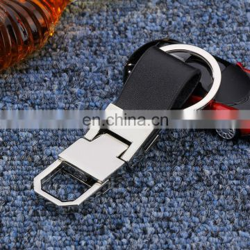 Custom upscale black car leather keyrings for car gift