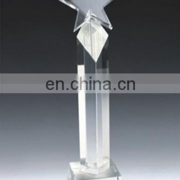 New design hot selling blank crystal award trophy of Crystal