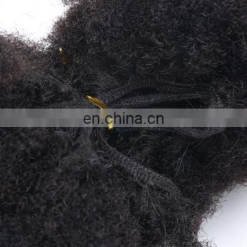 Yotchoi Hair Quality Remy Hair Extension Afro Kinky Curly Remy Hair Weave&Brazilian Virgin