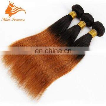 Wholesale Weaving Hair and Beauty Supplies Ombre Mongolian Hair Weaving 30 Color Straight Good Thinck Hair Weaving