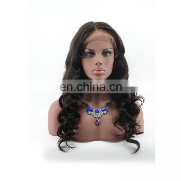 Long virgin human loose body wave hair wig full lace women hair lace front wig