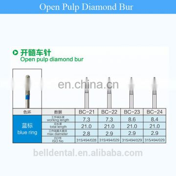 Belldental High speed Dental Diamond burs compatible with mani diamond bur
