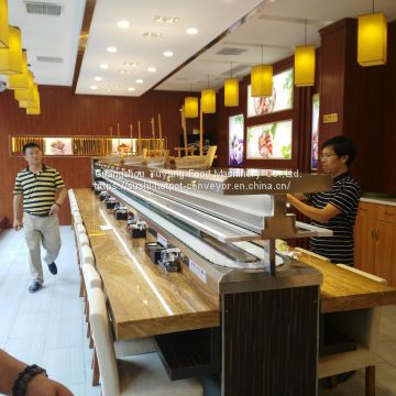 Sushi convery belt Sushi train Sushi bar conveyor belt factory: michaeldeng@gdyuyang.com