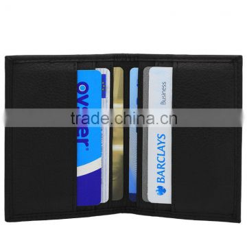 Bifold slim credit card holder,leather card case,,PU card holder wallet