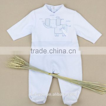 Wholesale alibaba Cloth Bottom Baby Girls' Adjustable Certified Organic Cotton Romper Elephant