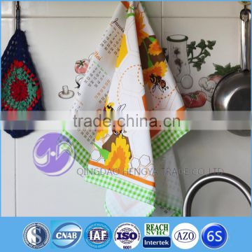 china supplier wholesale cotton custom tea towel printing