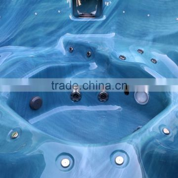 2015 cheap price lucite acrylic deluxe outdoor spa with pump