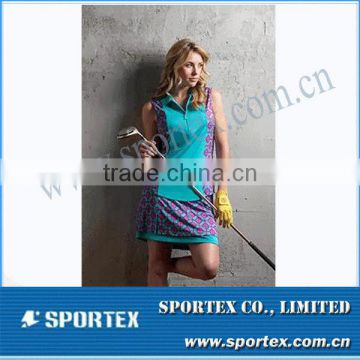 2015 New Design Athletic Contrast Color Women Golf Apparel MZ0103