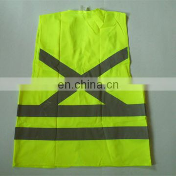 Adult Jackets yellow high visibility reflective safety vest