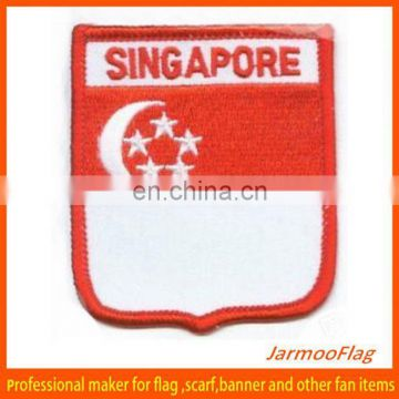 wearing beeanie club sports embroidery badges