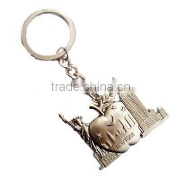Zinc alloy keychain with rings