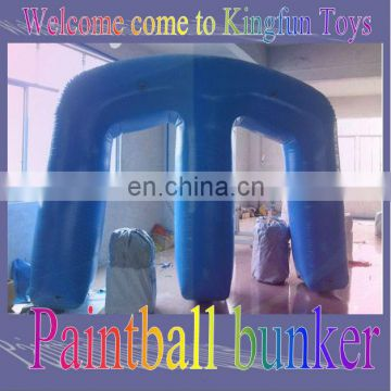 """M"" shape inflatable paintball bunkers"