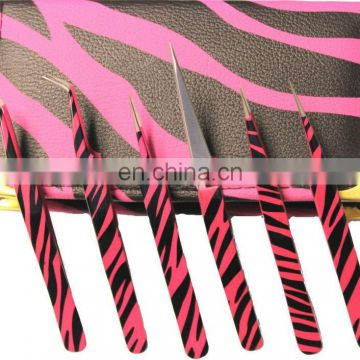 Eyelash Extension Tweezers / Lashes Tweezers / Under Customer's Brand Name , Coloring & Packaging