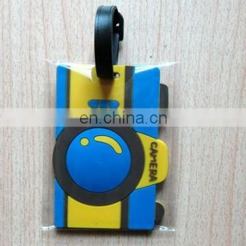Promotional camera shaped rubber luggage tag
